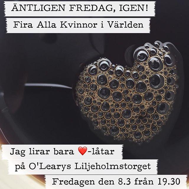 Imorgon firar jag Internationella Kvinnodagen på @olearysliljeholmstorget genom att bara spela sånger om ️. Mellan 16.00-18.30 serveras en BBQ-Buffé för 99 kr. Jag börjar spela i baren vid 19.30. VÄLKOMNA!@olearyssverige #olearys #olearysliljeholmen #codebrand #odebrand #livemusic #originalmusic #gig #bbq #goodfood #greatfood #beer #aw #afterwork #awstockholm #live